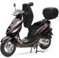 Preview: Nova Motors Energy 49ccm, Touring, Euro 4, schwarz-orange, 45km/h Mokick mit TopCase